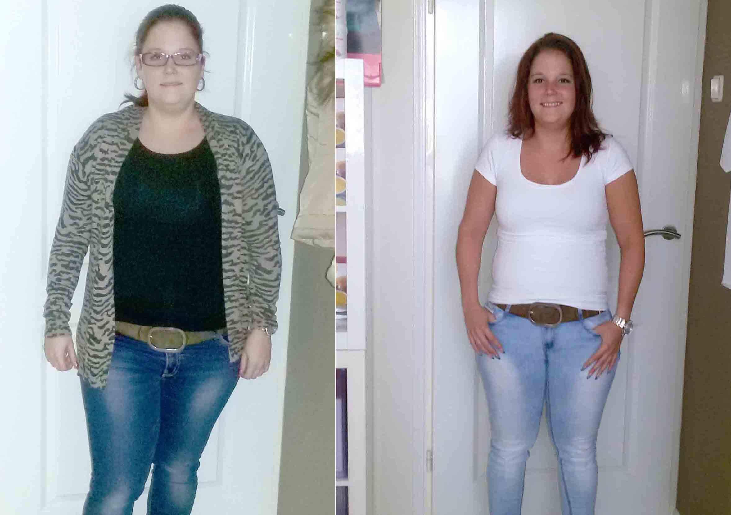 Michelle viel 16 kilo af in 6 maanden
