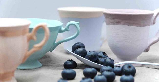 Helderblauw, zuiver en puur