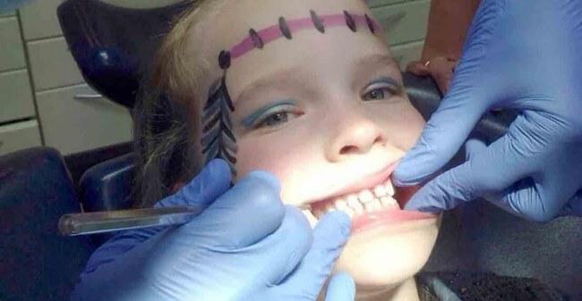 'Ik ben niet bang voor de tandarts!'