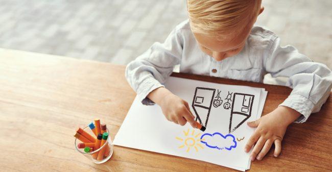 Waar spelen de kinderen na jullie scheiding?