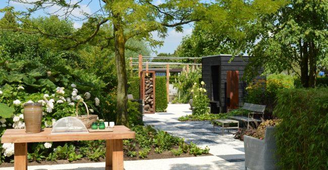 Lekker weg in eigen tuin geluk