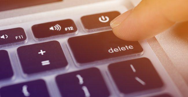 Druk voor jezelf vaker op de 'delete'-knop