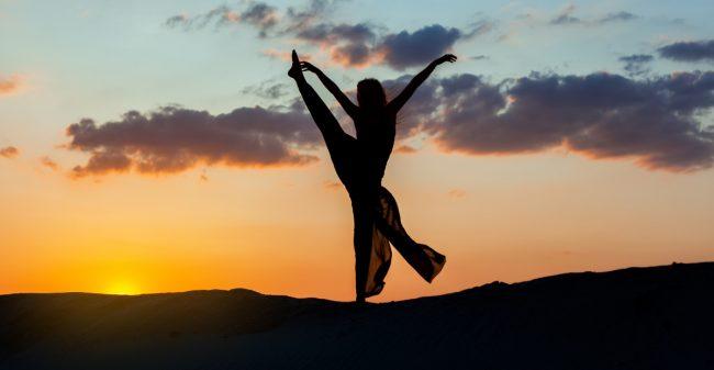 Dans jezelf gelukkig